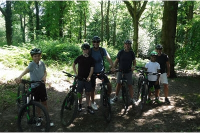 Father & Son adventure weekend away guided mountain biking in the Forest of Dean