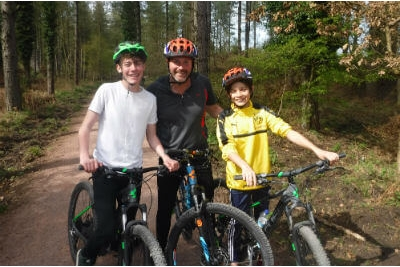 Guided mountain biking adventure activity weekend away in the Forest of Dean