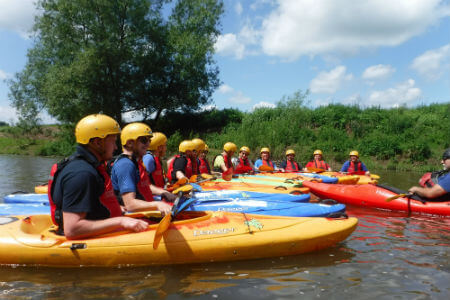 Outdoor adventures for stag party Wye Valley