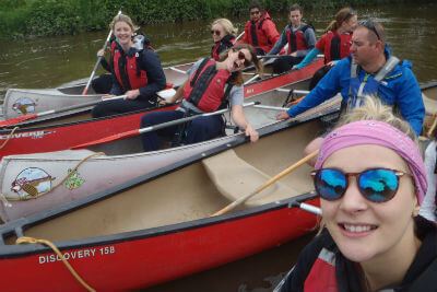 Open canoeing on The River Wye