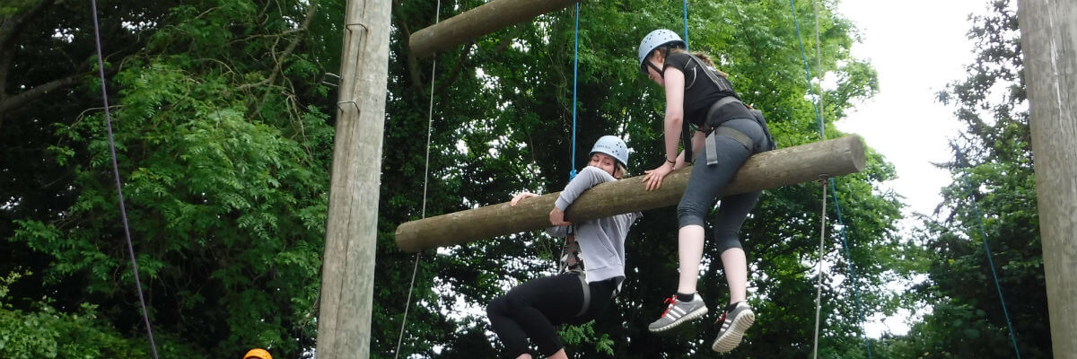 Head for heights! High level ropes course, Forest of Dean, Wye Valley, South Wales