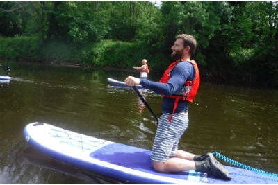 Stand-up paddle boarding on the River Wye Forest of Dean Wye Valley Wales Adventure days out