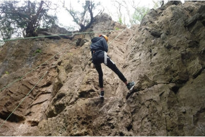 Rock climbing at Symonds Yat Forest of Dean Wye Valley Wales Adventure days out