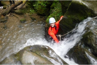 Gorge scrambling a fun team building day out in The Forest of Dean & Wye Valle