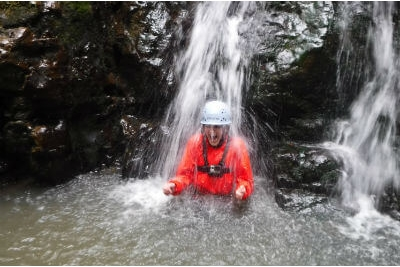 Hen party adventure activity weekend away Gorge Scrambling in the Forest of Dean & Wye Valley, Brecon Beacons Wales