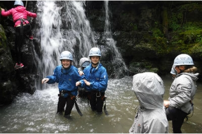 Gorge scrambling with youth groups outdoor adventure activities Forest of Dean & Wye Valley