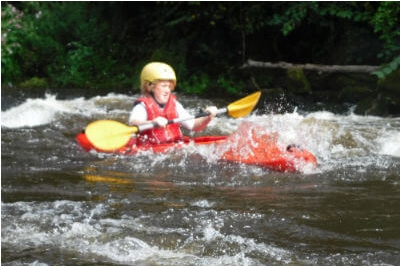 Guided kayaking on the River Wye