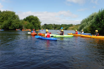 Learn to kayak or improve your skills on the River Wye