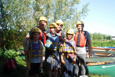 Dads and kids go wild on an adventure weekend