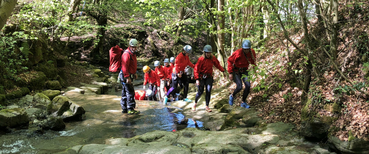 Gorge Scrambling fun, exciting & thrilling for all!