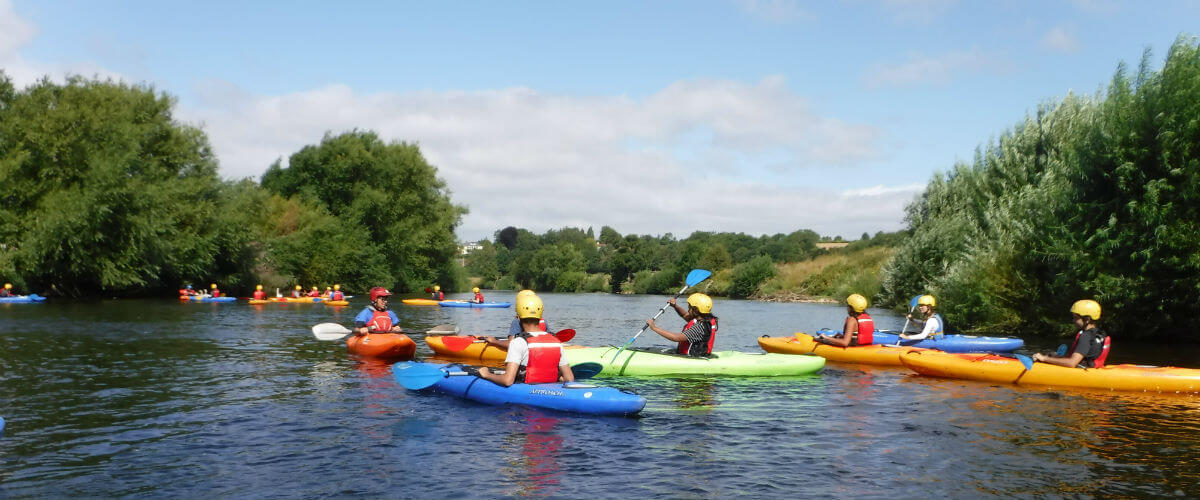 Learn to Kayak on the beautiful River Wye in The Forest of Dean & Wye Valley