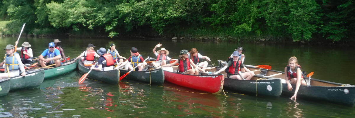Canoeing trips Wye Valley