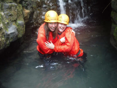 Gorge scrambling South Wales
