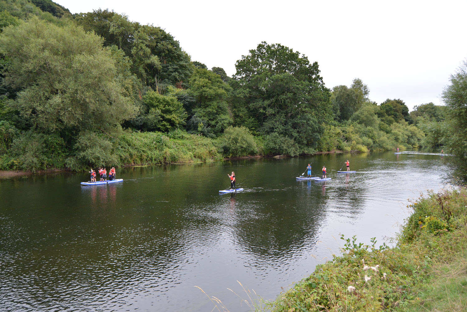 Stand-up paddle boarding Forest of Dean Wye Valley Monmouth Wales